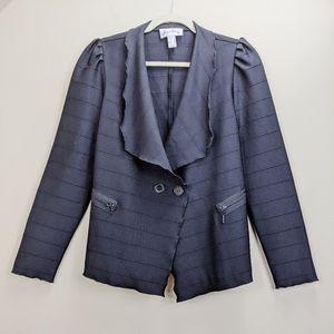 Joseph Ribkoff Jacket Size 10 Black Banded Stretch